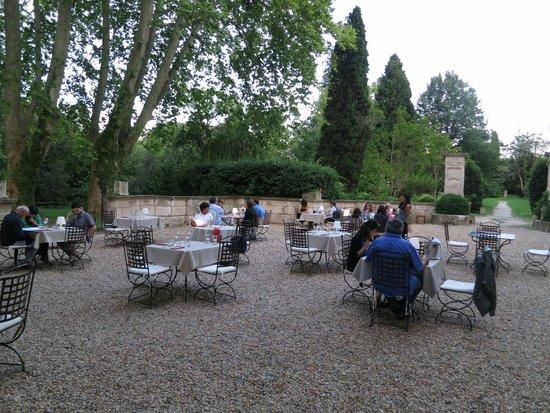 Chateau de Roussan : Restaurante jardín