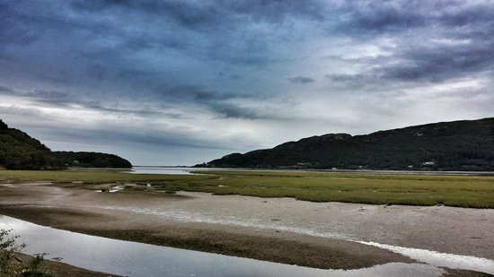 The Mawddach Trail: Barmouth in the distance