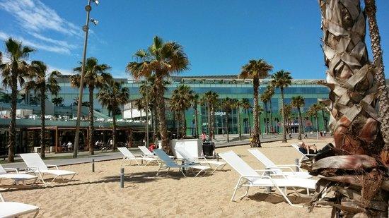 W Barcelona : vista dalla piscina