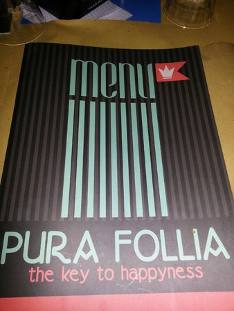 Pura Follia: Menu