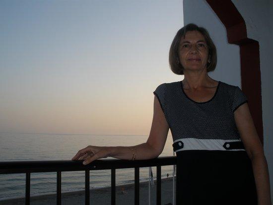 Hotel Perla Marina: Anochecer desde la terraza de la habitación