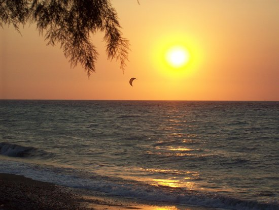 Electra Palace Rhodes : Sunset from the beach