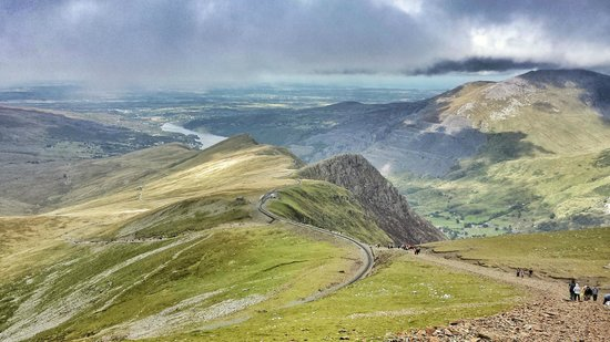 Snowdonia National Park: View from 3/4 way to the top