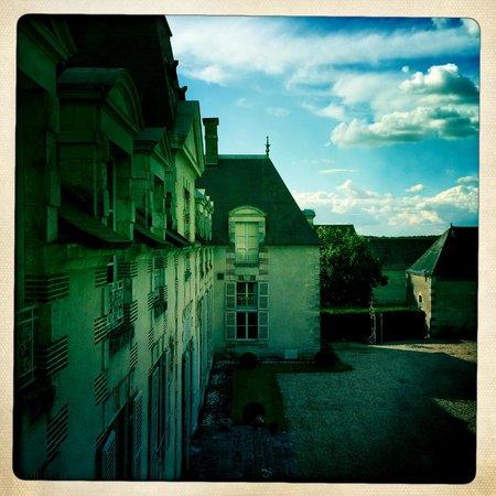 Schlossumgebung und Zimmeraussicht