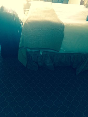 The Otesaga Resort Hotel: No care in how the bed is made