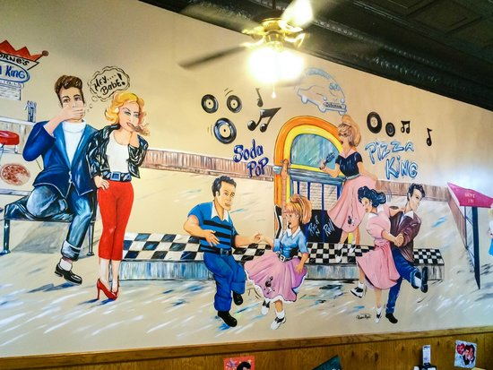 Mural on Pizza King Interior Wall