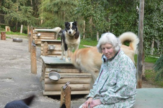 """Alaskan Tails of the Trail with Mary Shields: Mary with """"Big Boy"""" and """"Too Sweet"""""""