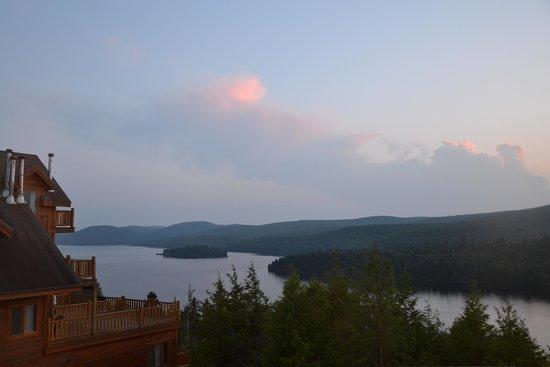 Hotel Sacacomie: vue sur le lac