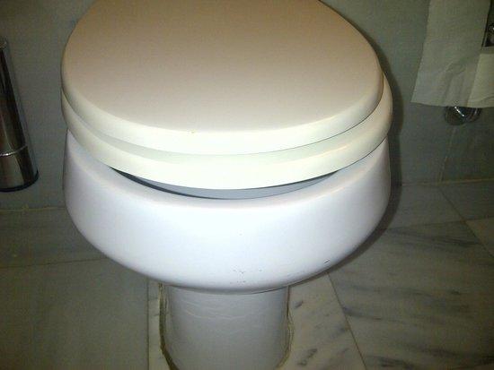 Aquila Rithymna Beach Hotel : Non fitting toilet seat