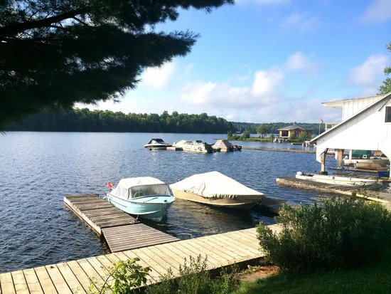 Tornado's Canadian Resorts: View outside cottage #7