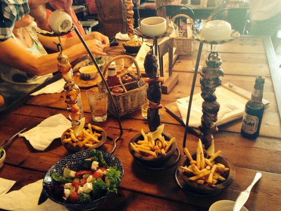 The Oast House: Had the hanging kebabs which were an exciting way to serve this food - a must visit when in manc