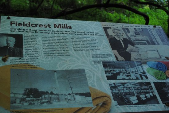 The Fieldcrest Mills Placard Explains the History of Fieldale