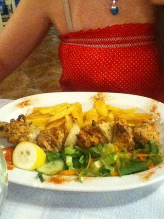 Taverna Aposperida : Chicken Souvlaki