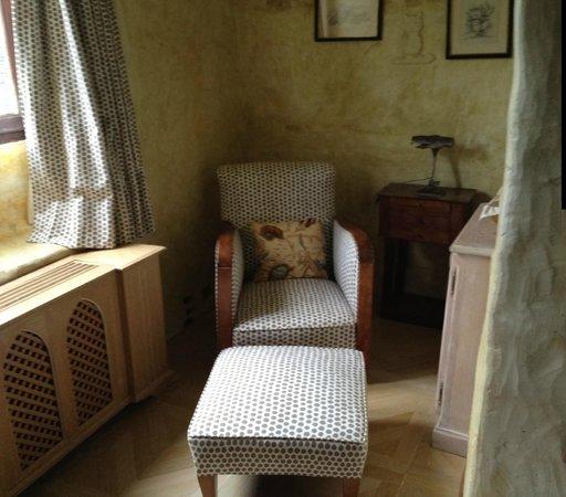 Château de Riell : Boudoir chambre FIGUIER