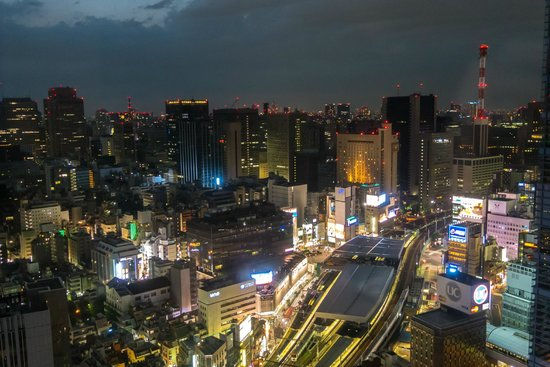 Park Hotel Tokyo: View from room Shimbashi station toward Ginza