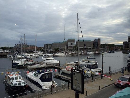 Issacs on the Quay: view from our table