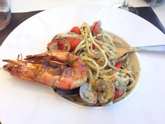 Acula marina : Spaghetti alle vongole