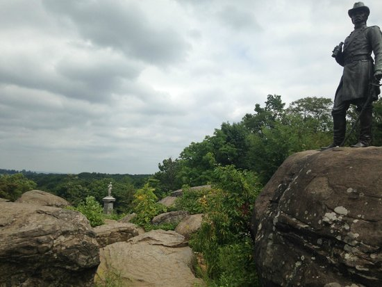 GettysBike Tours: On top of Little Round Top