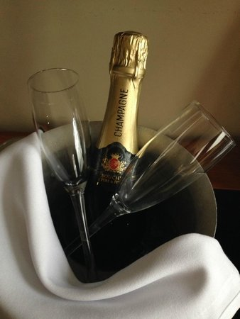 Hard Days Night Hotel: Champagne on arrival!