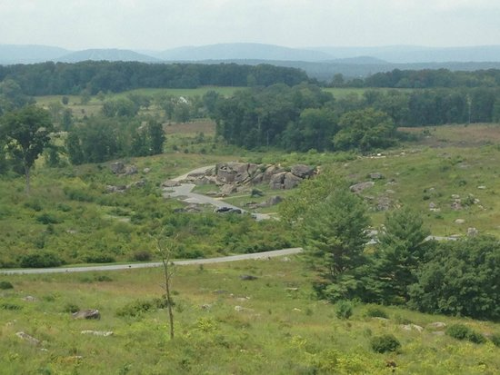 GettysBike Tours: Looking down from Little Round Top on the Devil's Den