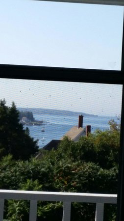 Topside Inn: View out of the door to deck, room 23.