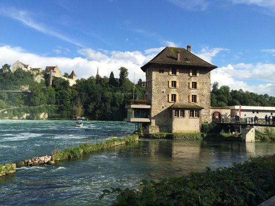 Rhine Falls: Taken from the riverside trail