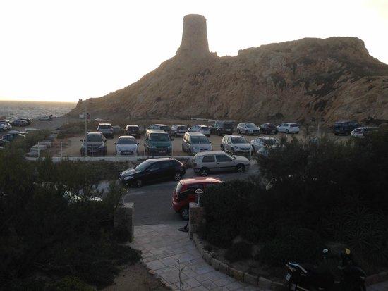 Hotel Restaurant La Pietra : Vue sur le parking