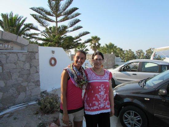 Villa Mina: Upon departure monica capogrossi  and mina