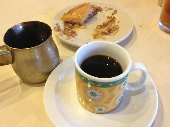 Cleopatra's Restaurant: Turkish Coffee and Baklava . . . delicious!