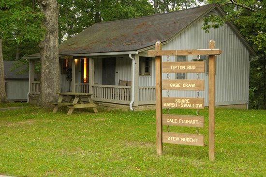 Abe Martin Lodge: Sleeping cabins, adjacent to the lodge are named after Abe Martin comic strip characters.