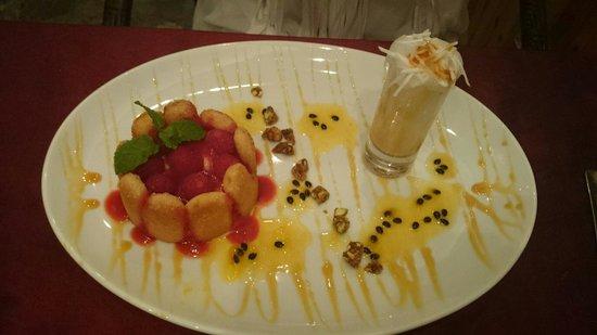 La Badiane restaurant : Dessert à la mangue