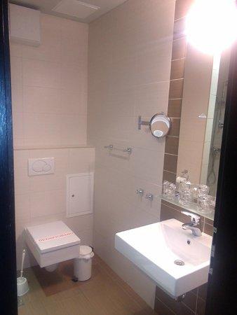 Birokrat Hotel: WC et lavabo