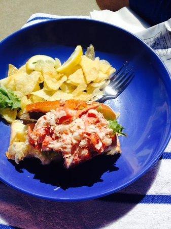 Harborside Hotel & Marina: Lobster roll after sampling :)