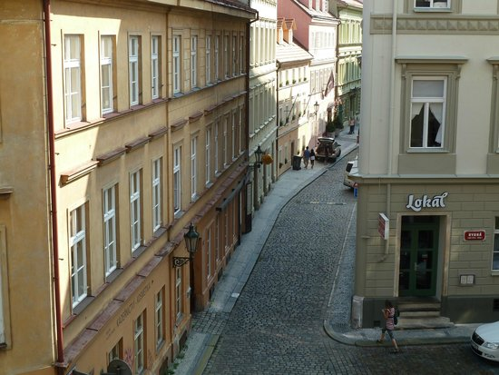 Hotel Hastal Prague Old Town : View from the Hotel Bedroom Balcony