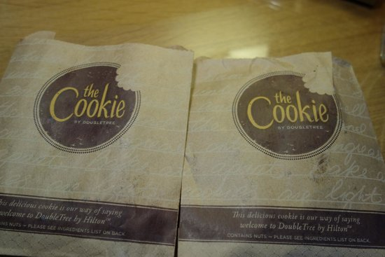 DoubleTree by Hilton Hotel Milton Keynes: Warm cookies for our welcome.
