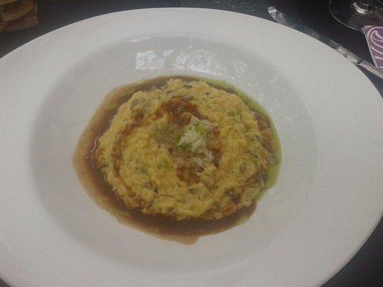 Restaurante Gran Sol: Arroz con hongos, salsa de carne y nube de idiazabal