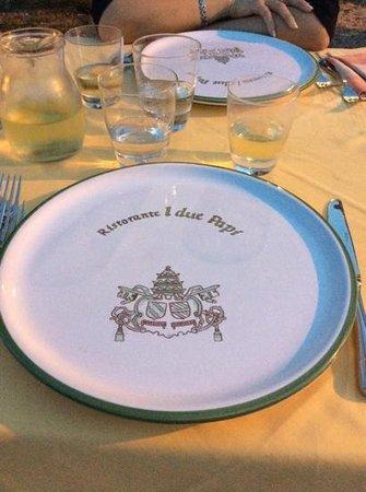 Il Castello di Sismano: molto bello il simbolo nel piatto