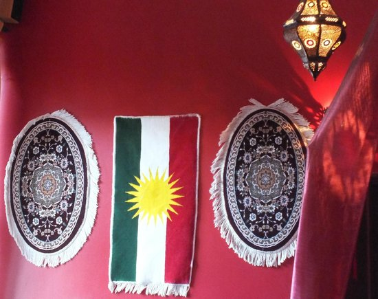 Hanam's Middle East Restaurant: Items hanged at the wall of the restaurant