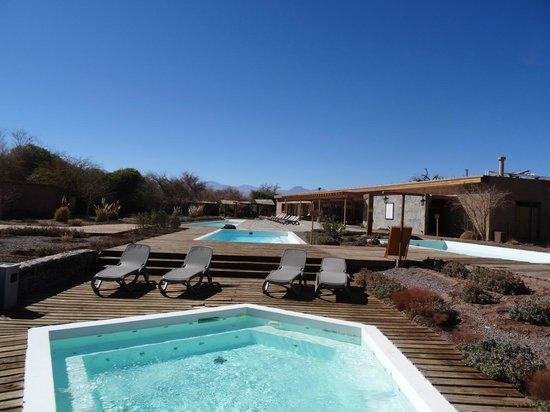 Hotel Cumbres San Pedro de Atacama: Área SPA e piscinas