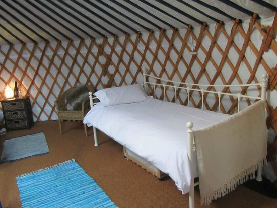 Caalm Camp: in our yurt