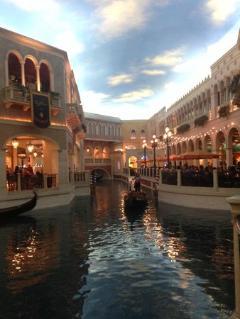 The Grand Canal Shoppes at The Venetian: Grand Canal Gondola Ride and shops