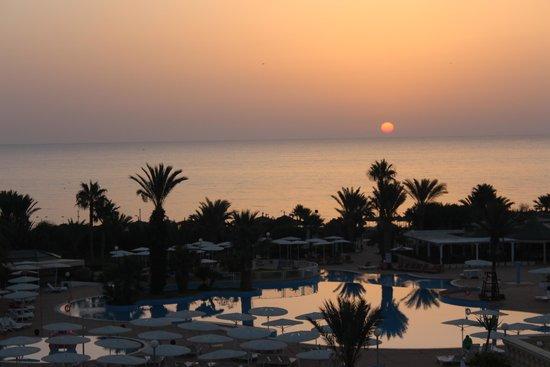 El Mouradi Palm Marina: Sunrise over the pool