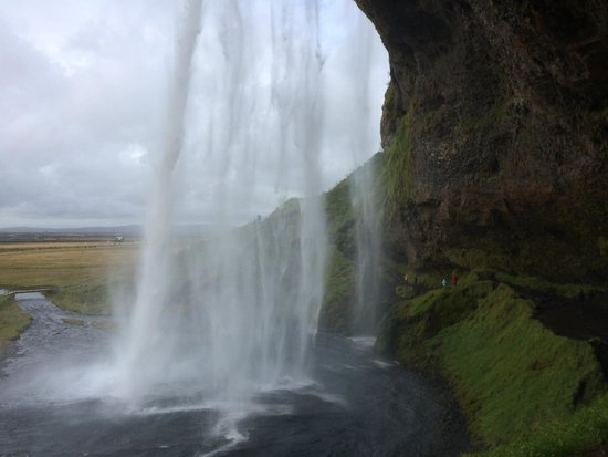 Iceland Guided Tours: One of the waterfalls that you can walk behind