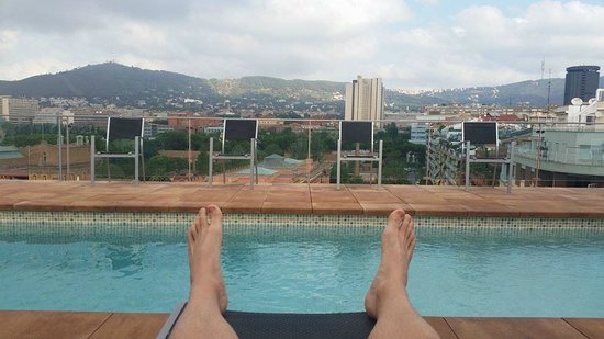NH Barcelona Stadium: View from the rooftop pool