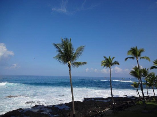 Kona Reef Resort: View from one of our rooms