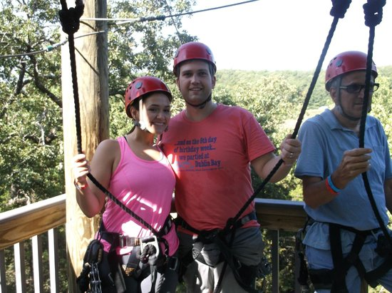 Branson Zipline and Canopy Tours: This is the better of the giant shadows or light strips across our faces