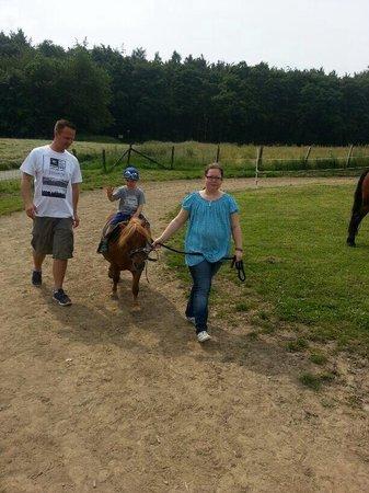 Hattingen, Allemagne : Ponyreiten am Bergerhof