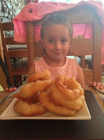 Urchins: Biggest portion of onion rings ever