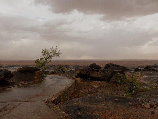 Bandiagara Cliffs (Dogon Country) : Durchsticgh der Falaise zu Beginn der Regenzeit