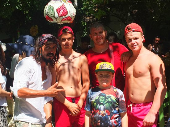 Oludeniz, Turkey: Captain Jack Sparrow and some of the lads